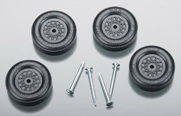 Revell Official BSA Wheel & Axle Set Black - 1