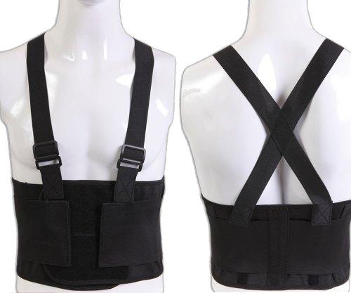 Power Star Industrial Back Support Belt Detachable Shoulder Straps Work Pain Injury Relief