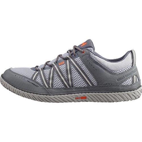 Helly Hansen Sailpower 3, Sneaker uomo Multicolore Gris / Marrón (974 Light Grey / Charcoal / Mi) 42