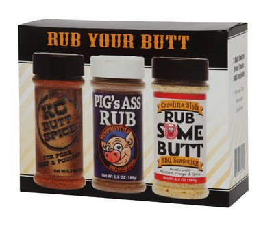 Rub Your Butt Championship BBQ Seasoning Gift Pack