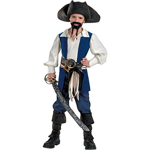Kid's Jack Sparrow Pirate Halloween Costume (Size: Medium 8-10)