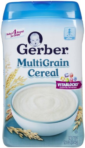 Gerber Multigrain Cereal Baby Food 16 Oz (Pack Of 12) front-258597