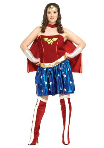 Rubies Womens Wonder Woman Sexy Corset Fancy Dress Halloween Party Theme Costume