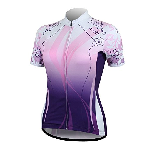 Santic Women's Full-Zip Short Sleeve Cycling Jersey Small Purple (Girls Cycling Jersey compare prices)