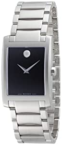 Movado Men's 0606403 Certe Stainless-Steel Black Watch from Movado