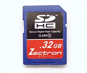 Zectron Digital 32GB Class 10 High Speed SDHC MEMORY CARD FOR Casio Exilim EX-Z1080 digital Camera Camcorder Video SD Secure Digital Card