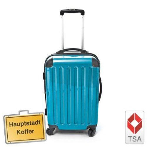 Hartschalen Koffer Cyan Blau Hochglanz max.130