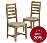 2 Bailey Ladder Slat-Back Dining Chairs