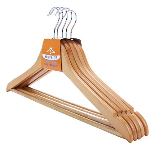 10-hochwertige-Holzkleiderbgel-in-Premium-Qualitt-mit-rutschfestem-Hosensteg-45-cm-Hangerworld