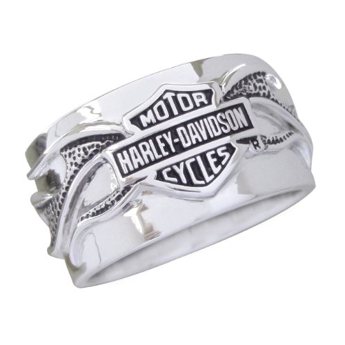 Sterling Silver Harley-Davidson Men's Night Flame Ring