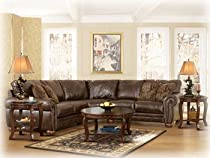 Big Sale Traditional Style Antique DuraBlend Match Upholstery 2 Pc Loveseat Sectional