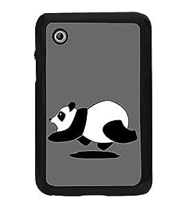 Running Panda 2D Hard Polycarbonate Designer Back Case Cover for Samsung Galaxy Tab 2 :: Samsung Galaxy Tab 2 P3100