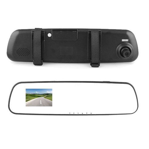 """Foneso Dash Cam 720P Hd 2.7"""" Lcd Car Camera Dashboard Ultra Clear Rear View Mirror Adjustable View Vehicle Video Audio Accident Camcorder Recorder Mirror Style"""