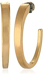 Kenneth Cole New York Pave Sculptural Hoop Earrings