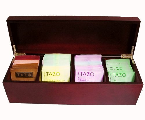 Fine Exotic Wood Tea Box Sampler  44 TAZO Teabags