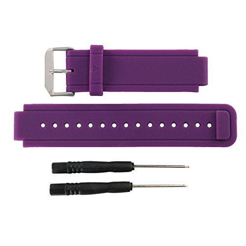 Purple-Replacement-band-for-Garmin-Vivoactive-Silicone-Replacement-Fitness-Bands-Wristbands-with-Metal-Clasps-for-Garmin-vivoactive-GPS-Smart-Watch