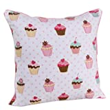 100% Cotton Cupcakes Scatter Cushion Cover