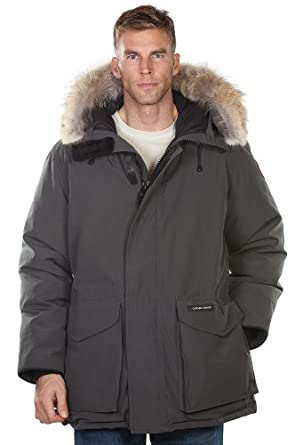 Mens Ontario Canada Goose Down Parka with Coyote Fur Trim by Overland Sheepskin Co