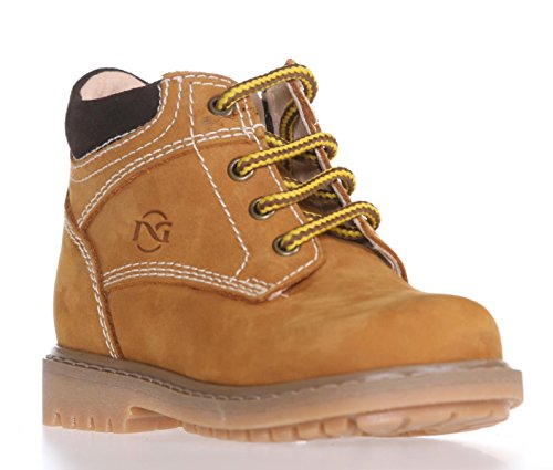 Nero Giardini A523760M-612 soft nubuk grano yellow boot junior tg.25