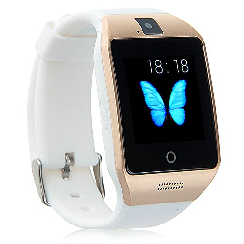 Padgene Padgene Bluetooth NFC Smart Watch with IPS Touch Screen Watch Phone for Samsung S5 / S6 / S6 Edge / Note 4, HTC, Sony, Lg, Moto, Huawei and other Android Smartphones, White