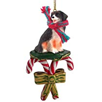 Bernese Mountain Dog Candy Cane Christmas Ornament