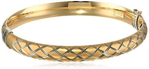 14k-Yellow-Gold-Bonded-Sterling-Silver-Quilt-Bangle-Bracelet-75