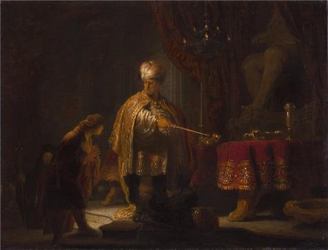 oil-painting-daniel-and-cyrus-before-the-idol-bel-1633-by-rembrandt-harmenszoon-van-rijn-printing-on
