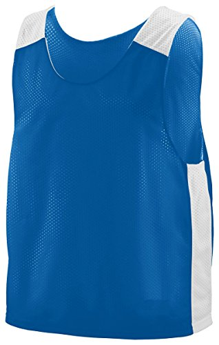 Augusta Sportswear Big Boy's Fully Reversible Jersey, Royal/White, Medium/Large