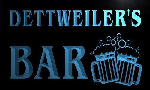 w148496-b DETTWEILER'S Name Home Bar Pub Beer Mugs Cheers Neon Light Sign