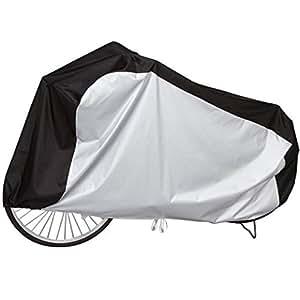 Storage Style 快適収納 自転車カバー 撥水加工 2トーンカラー ブラックxシルバー 風で飛びにくいゴム&ヒモ付