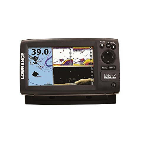 Lowrance Elite-7 CHIRP Fishfinder/Chartplotter with 83/200+455/800 KHz Transducer