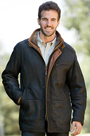 Overland Sheepskin Co Mens Clairmont Shearling Sheepskin Jacket by Overland Sheepskin Co