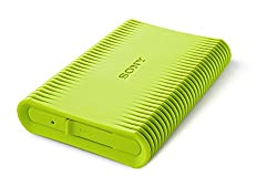 Sony HD-SP1 Shock-proof 1 TB External Hard Drive with Backup Manager (Green)