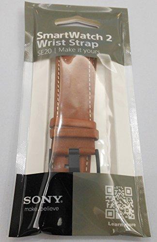 SONY Original SE20 Watchband for SmartWatch 2 SW2 Wrist Strap Watchband (PU leather Brown)