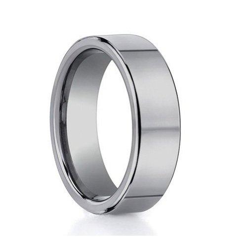 Polished Tungsten Wedding Bands 52 Stunning Tungsten Carbide Flat Plain