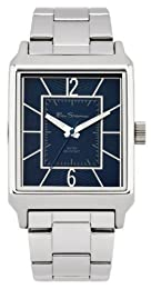 Ben Sherman Men's Quartz Watch with Blue Dial Analogue Display and Silver Stainless Steel Plated Bracelet R947