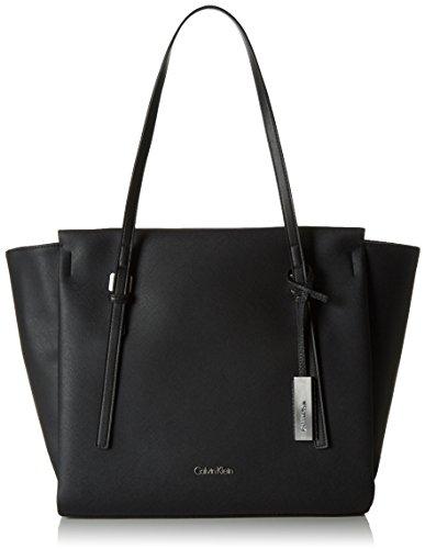 Calvin Klein JeansM4RISSA LARGE TOTE - Borsa shopper Donna , Nero (Nero (Black 001)), 30x48x15 cm (B x H x T)