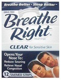 (120 Strips) Breathe Right Nasal Strips Clear Small Medium Sensitive Skin