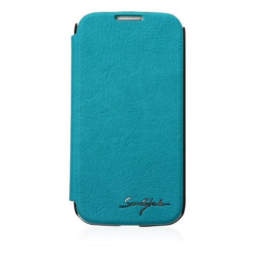 Blue- Samsung Galaxy S4 Tridea 100% Premium Italian Pu Credit Card Holder Flip Case With Speaker Hole