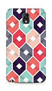 Amez designer printed 3d premium high quality back case cover for Samsung Galaxy Note 3 (Pattern 1)