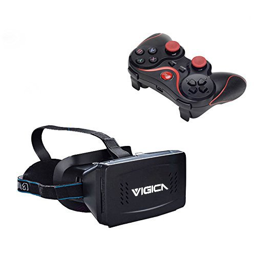 Check Out This VIGICA Virtual Reality 3D Video Glasses VR Headset Bluetooth Game Controller Gamepad ...