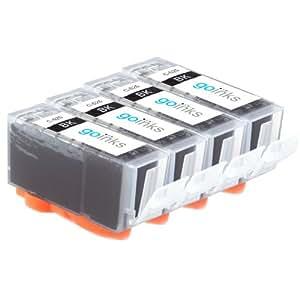 4 Black Compatible Canon PGI-525Bk Chipped Printer Ink Cartridges for Canon Pixma iP4850, iP4950, iX6550, MG5150, MG5250, MG5320, MG5350, MG6150, MG6220, MG6250, MG8150, MG8170, MG8220, MG8250, MX885