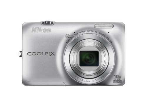 Nikon COOLPIX S6300 Compact Digital Camera - Silver (16MP, 10x Optical Zoom) 2.7 inch LCD