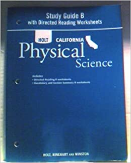 holt science technology california study guide b with directed reading worksheets grade 8. Black Bedroom Furniture Sets. Home Design Ideas
