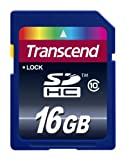 Transcend 16GB Class 10 SDHC Flash Memory Card (TS16GSDHC10E)