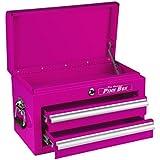 The Original Pink Box PB218MC 18-Inch 2-Drawer 18G Steel Mini Storage Chest, Pink