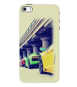 PrintDhaba Cars D-2169 Back Case Cover for APPLE IPHONE 4 (Multi-Coloured)