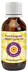 Pure Fenugreek(Methi) Carrier oil 30ml- Trigonella foenumgraecum