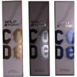 Wild Stone Code Gold, Platinum, Titanium Body Perfume 120ML (Pack Of 3)