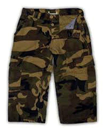 Topman -  Pantaloncini  - Uomo Green Camouflage small